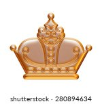 gold crown isolated white. | Shutterstock . vector #280894634
