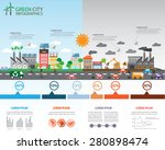 Environment, ecology infographic elements. risks and pollution, ecosystem.  Can be used for background, layout, banner, diagram, web design, brochure template. Vector illustration | Shutterstock vector #280898474