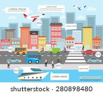 transportation and city traffic ... | Shutterstock .eps vector #280898480
