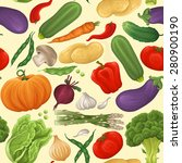 vegetable seamless pattern with ... | Shutterstock .eps vector #280900190