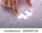 jigsaw puzzle piece  complete... | Shutterstock . vector #280900718