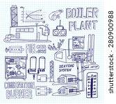 boiler room equipment ... | Shutterstock . vector #280900988