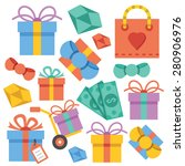 vector gift icons set. present...