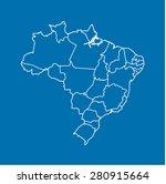 map of brazil   Shutterstock .eps vector #280915664