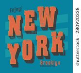 vintage new york typography  t... | Shutterstock .eps vector #280920338