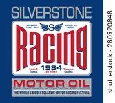 racing silverstone typography ... | Shutterstock .eps vector #280920848