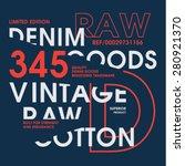 vintage denim cotton typography ... | Shutterstock .eps vector #280921370