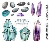 vector set of crystals in... | Shutterstock .eps vector #280923266