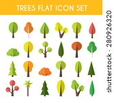 tree icon set a large set of... | Shutterstock .eps vector #280926320