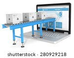 online distribution. industrial ... | Shutterstock . vector #280929218