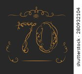 anniversary 70th signs  in... | Shutterstock .eps vector #280932104