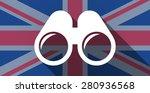 illustration of an uk flag icon ...