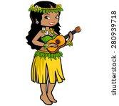 illustration of a hawaiian... | Shutterstock .eps vector #280939718
