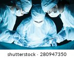 medical team performing... | Shutterstock . vector #280947350