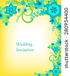 wedding invitation card.... | Shutterstock .eps vector #280954400