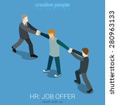 hiring professional human... | Shutterstock .eps vector #280963133