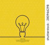 bulb light idea. concept of big ... | Shutterstock .eps vector #280966298
