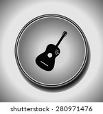 guitar vector icon. flat design ...