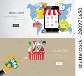 vector online shopping concept... | Shutterstock .eps vector #280971650