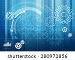 gear abstract background  ... | Shutterstock .eps vector #280972856