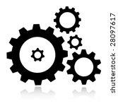 vector gears icon | Shutterstock .eps vector #28097617