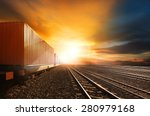 industry container trains...   Shutterstock . vector #280979168
