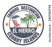famous destinations  el hierro... | Shutterstock .eps vector #280980998