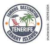 famous destinations  tenerife... | Shutterstock .eps vector #280981004