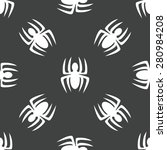 silhouette of spider repeated... | Shutterstock . vector #280984208