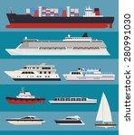vector water transport. cargo... | Shutterstock .eps vector #280991030