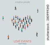 People Standing As Heart Shape...
