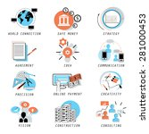 business icons set   isolated... | Shutterstock .eps vector #281000453