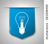 light lamp sign icon on blue...