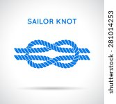 sailor knot. nautical rope... | Shutterstock .eps vector #281014253