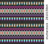 colorful  geometrical painted... | Shutterstock . vector #281015864