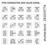 vector icon of steel pipe...   Shutterstock .eps vector #281019776