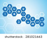medical background and icons to ... | Shutterstock .eps vector #281021663