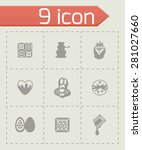vector chocolate icon set on...   Shutterstock .eps vector #281027660