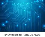 high tech vector background...   Shutterstock .eps vector #281037608
