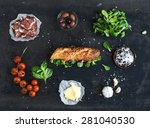 ingredients for sandwich with... | Shutterstock . vector #281040530