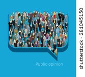 a large group of people in... | Shutterstock .eps vector #281045150