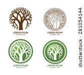 green circle tree vector logo... | Shutterstock .eps vector #281054144