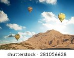 Hot Air Balloons Over The...