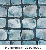 cobblestone pattern watercolor... | Shutterstock . vector #281058086