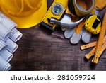 construction drawings and set... | Shutterstock . vector #281059724