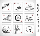 collection of elements hand... | Shutterstock .eps vector #281060330