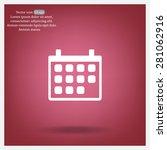 calendar   vector icon | Shutterstock .eps vector #281062916