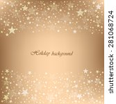 beautiful beige background with ... | Shutterstock .eps vector #281068724