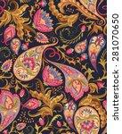 seamless paisley pattern   Shutterstock .eps vector #281070650
