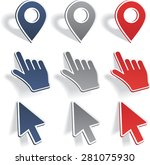 set of different map pointers.... | Shutterstock .eps vector #281075930